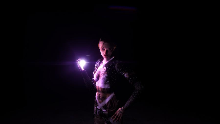 Digital Art Dark Room Single Light Source