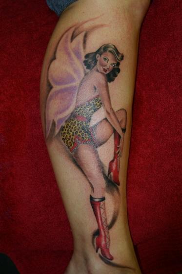 fairy tattoos pin-up fairy