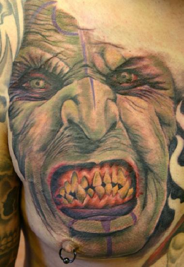 Cut throat ork by alphatattoo on deviantart for Cut throat tattoo