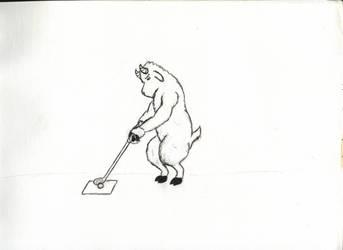 Golfing Mountain Goat