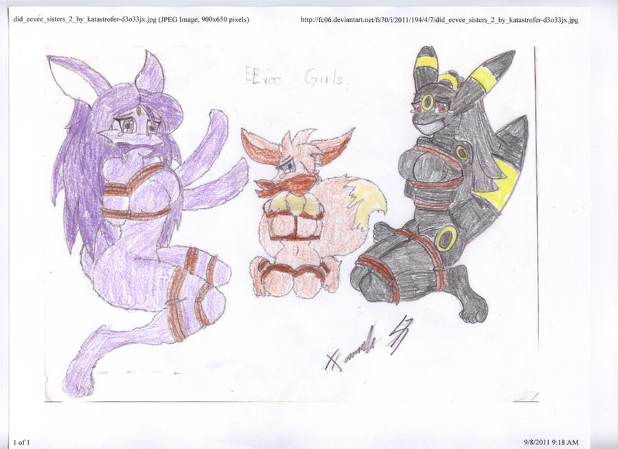 Sexy Eevee Girls Gagged 2 by sonic-the-cool-man