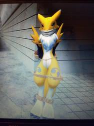 Gmod: Digimon Renamon bound and gagged