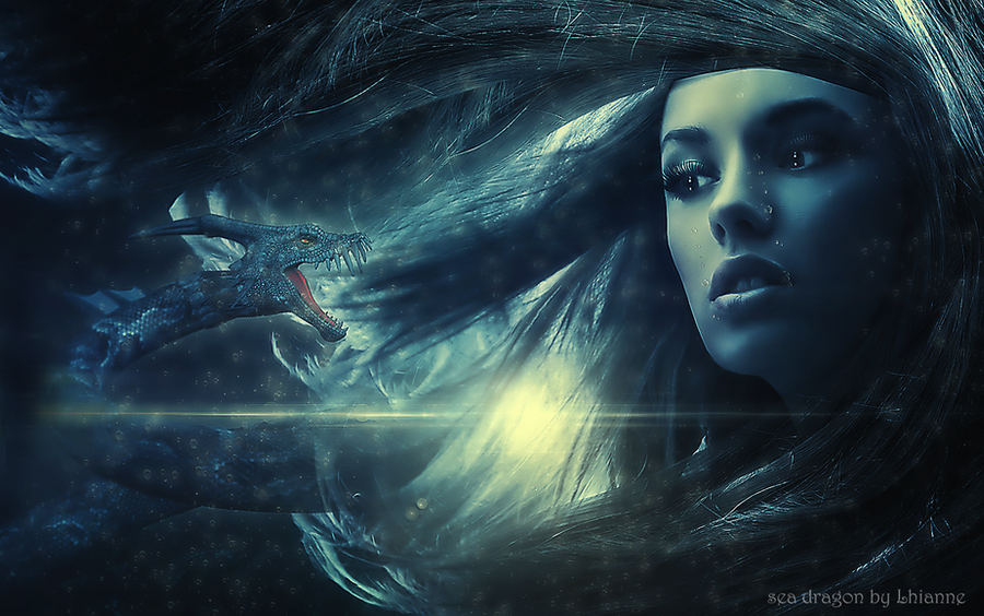 sea dragon by Lhianne on DeviantArt