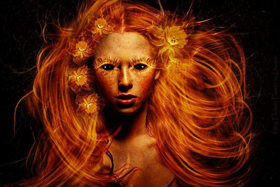 fiery Flower Power by Lhianne