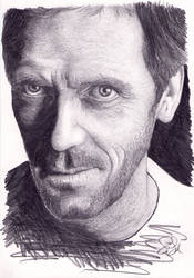 Doctor House / Hugh Laurie Portrait.