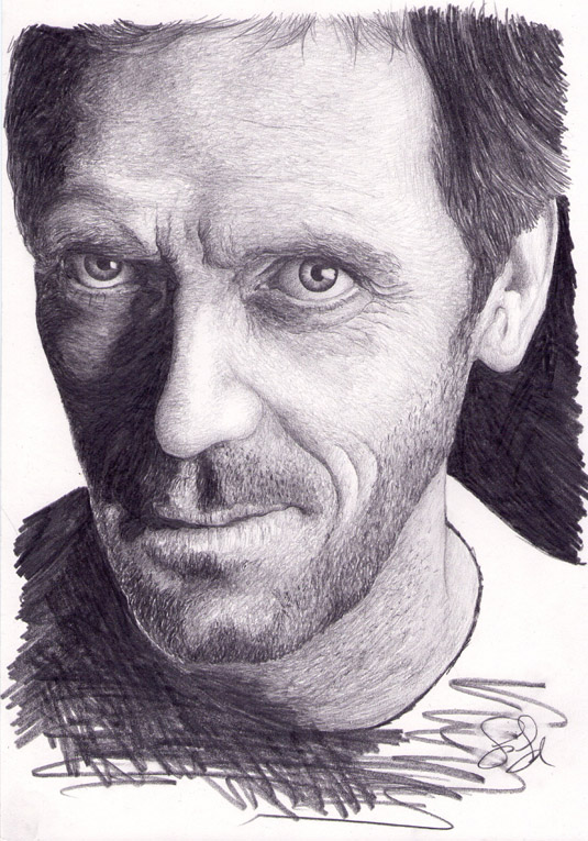 Doctor House / Hugh Laurie Portrait.