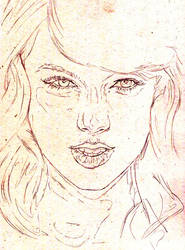 Taylor Swift Work In Progress - Composition sketch