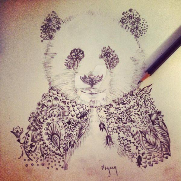 Animal Henna Tattoo Designs: Henna Panda For Tattoo Design By Mymy-La-Patate On DeviantArt
