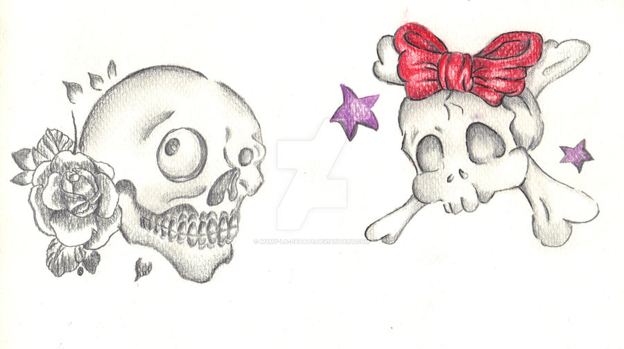 Kawaii Skulls For Tattoo Design By Mymy La Patate On Deviantart