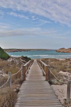 beach path.