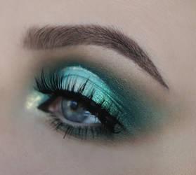 green makeup.
