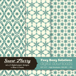 Snow Flurry - Set of 3 Digital Paper Designs