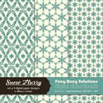 Snow Flurry - Set of 3 Digital Paper Designs