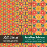 Fall Floral Digital Papers - set of 3