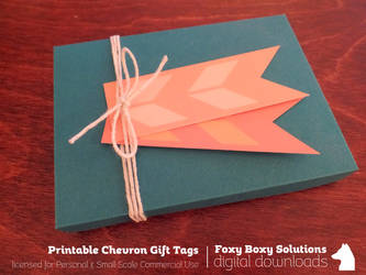 Printable Chevron Gift Tags in 8 Colors