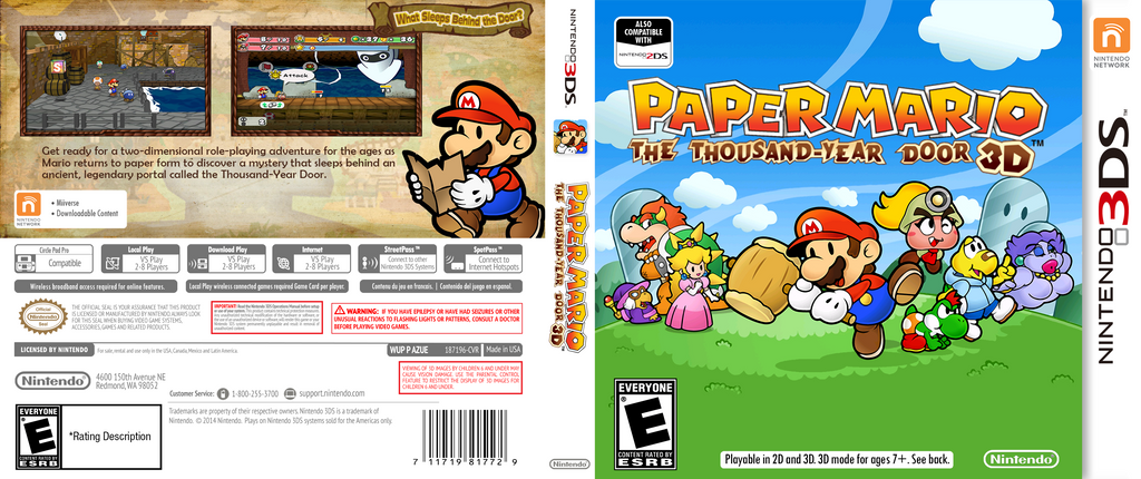 Paper Mario The Thousand Year Door 3D - 3DS by CreativeAnthony ...  sc 1 st  DeviantArt & Paper Mario The Thousand Year Door 3D - 3DS by CreativeAnthony on ...