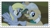 Derpy and mayor mare by AriaGrill
