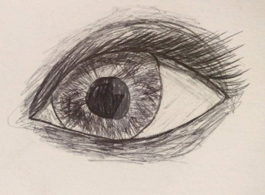 Eye Pen Sketch by AriaGrill