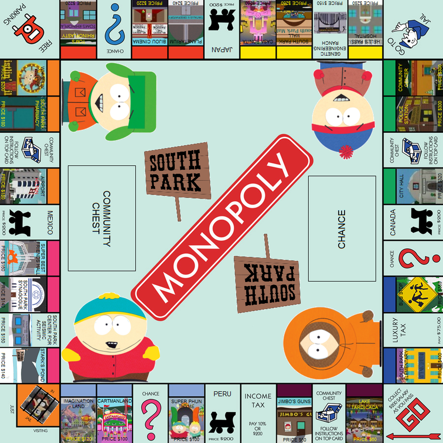 Monopoly: South Park Edition by SkyRider747 on DeviantArt