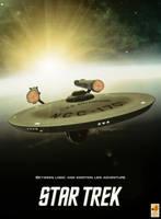 Star Trek anniversary poster by thefirstfleet