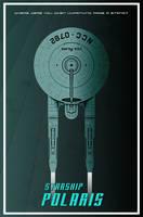 Kelvinverse Polaris art deco poster by thefirstfleet