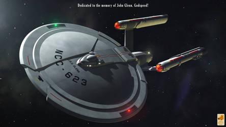 USS Glenn - John Eaves concept ship by thefirstfleet