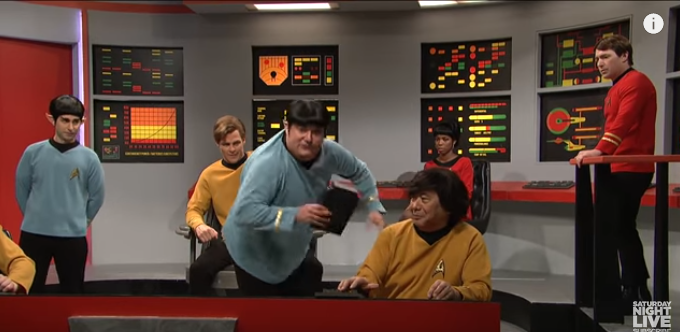 Polaris console in Saturday Night Live by thefirstfleet