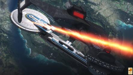 Shoo, bad Klingon by thefirstfleet