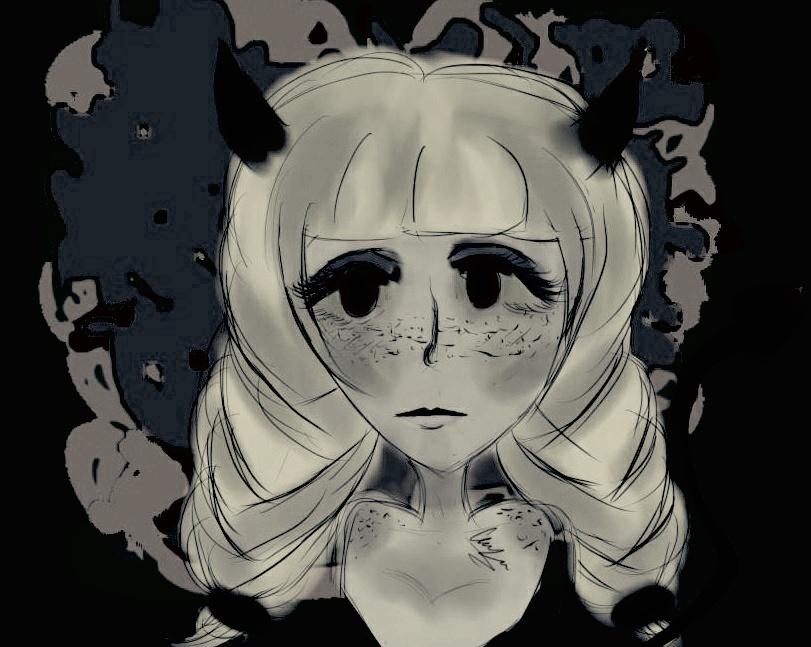 Dark doodle by ChyTheNeko