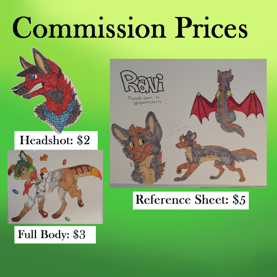 Commission Prices by Velvet-Clawss