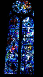 Stained glass Les deux Testaments