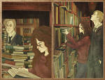 Bookworm at the library