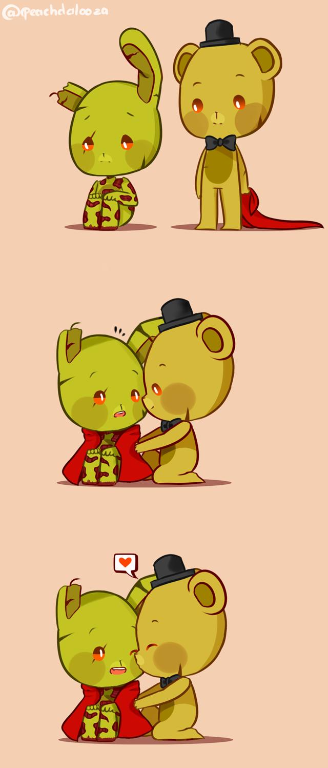 Hug and kisses by Peachdalooza