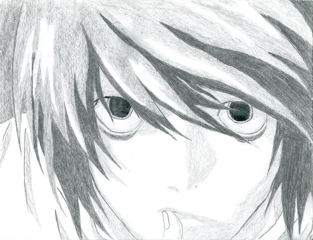 Death Note by Li...L Death Note Drawing