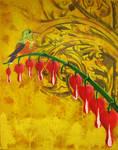 Calliope Hummingbird Painting