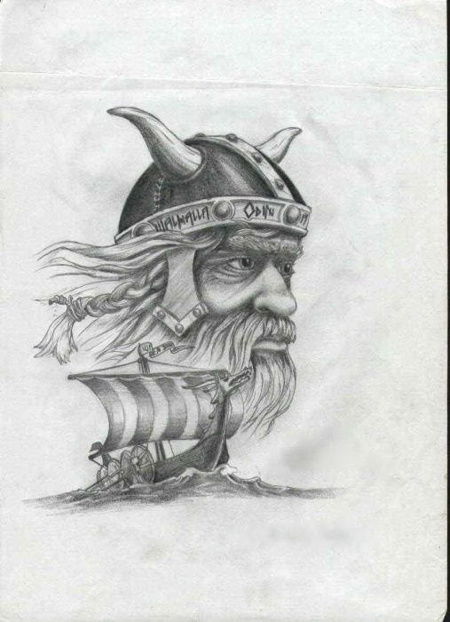 Viking Ships Tattoo Designs