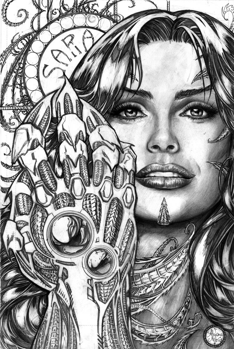 Adriana Melo Sara Pezzini pinup by AdrianaMelo on DeviantArt