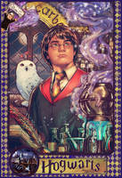 Harry Potter pinup (year 2) by AdrianaMelo