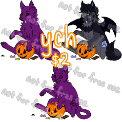 Halloween Pixel YCH [closed]