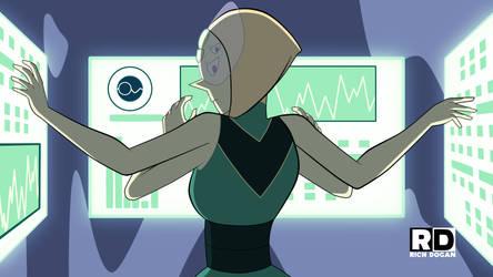 Pearl-Peridot Fusion: Episode Draft Still by richdogan