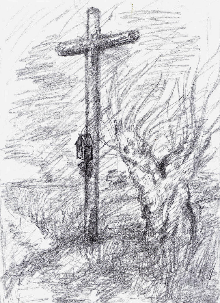 Speed sketch - In Polish road by BlackBigBear
