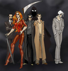 Good Omens group shot by Altaris