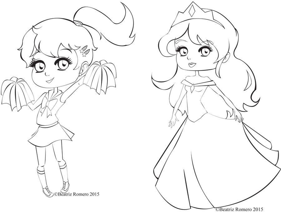Princess and Cheerleader by The-Honey-Bea