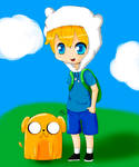 Finn and Jake Colored