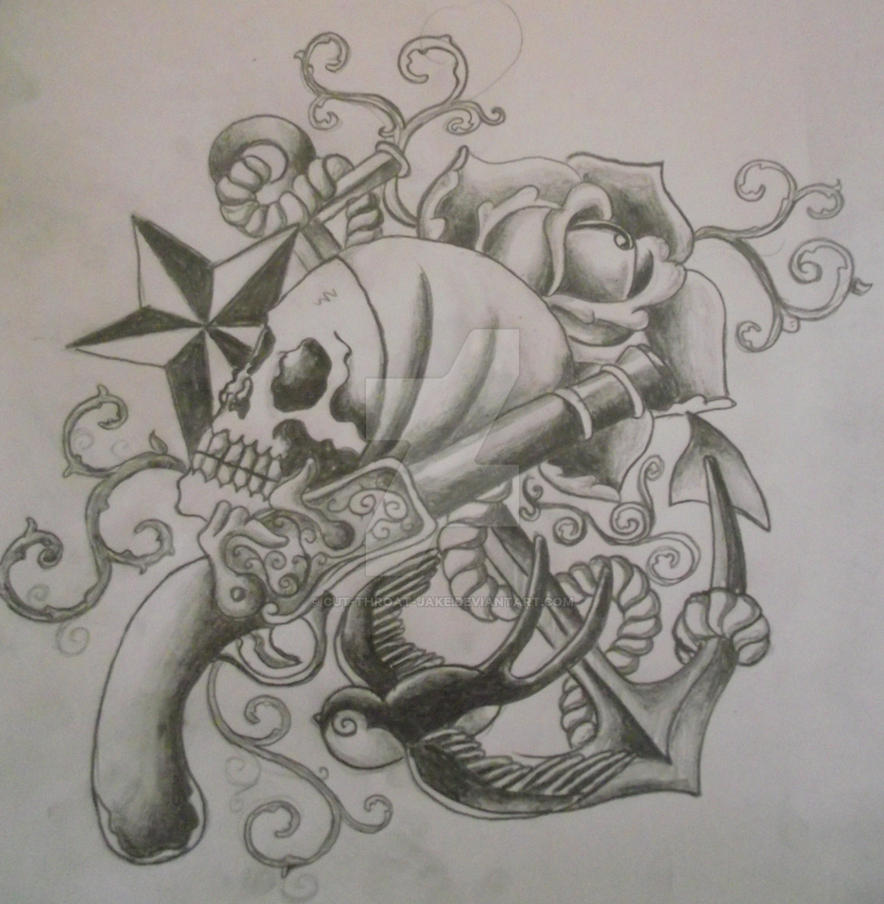 pirate tattoo sketch by cut throat jake on deviantart. Black Bedroom Furniture Sets. Home Design Ideas