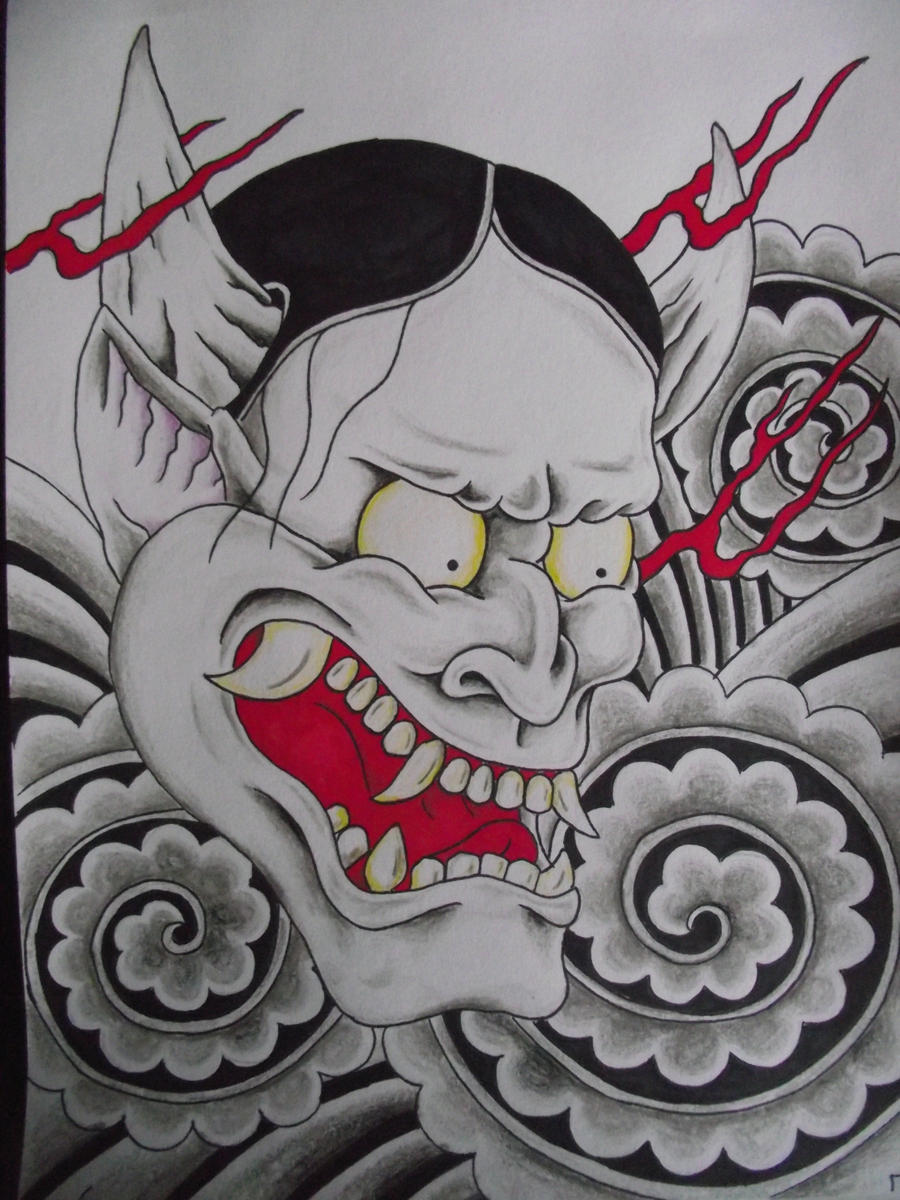Oni by cut throat jake on deviantart for Cut throat tattoo