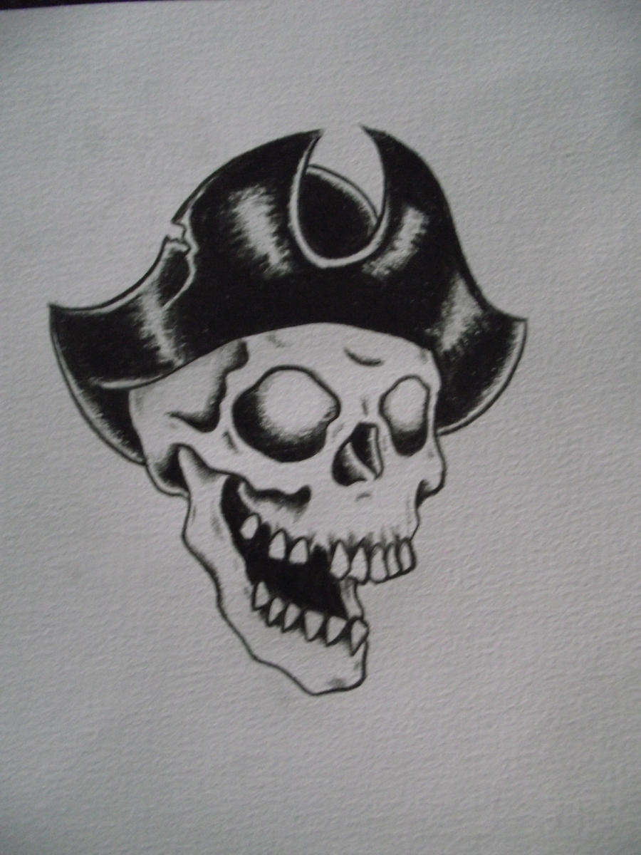 New school pirate skull tattoo - photo#6