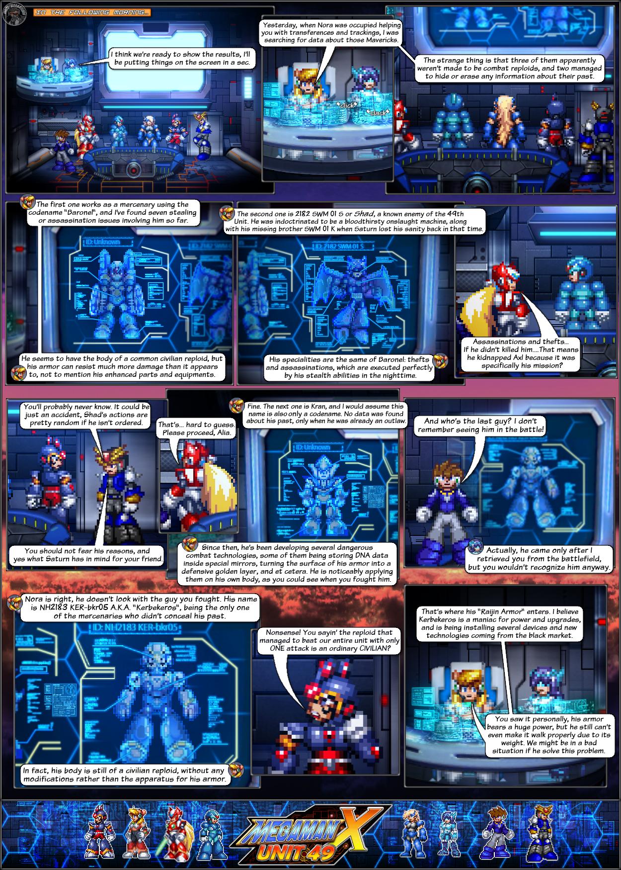 MMX:U49 - S1Ch7: Briefing (Page 1) by IrregularSaturn