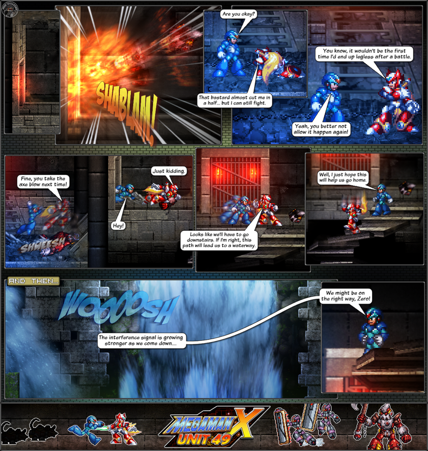 MMX:U49 - S1Ch10: The Sewers (Page 6) by IrregularSaturn