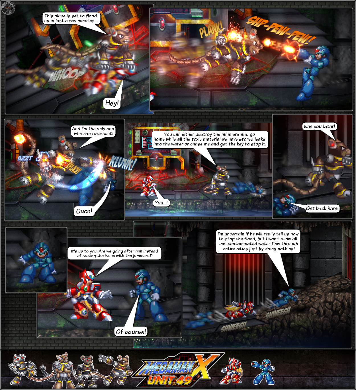 MMX:U49 - S1Ch11: Cat and Mice (Page 6) by IrregularSaturn